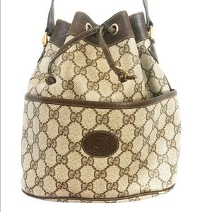 Auth Gucci gg bucket crossbody bag purse ophidia